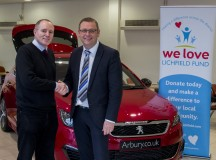 Vroom Vroom.  Car dealership Arbury supports We Love Lichfield